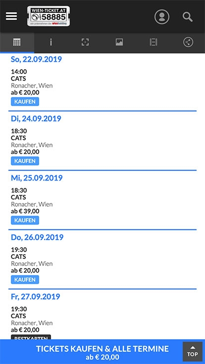 WIEN TICKET | wien-ticket.at | 2015 (Mobile Only 02) © echonet communication GmbH